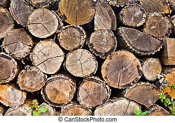 woodpile (round)  - woodpile (round)