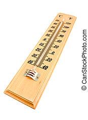de madera, centígrado, Fahrenheit, termómetro