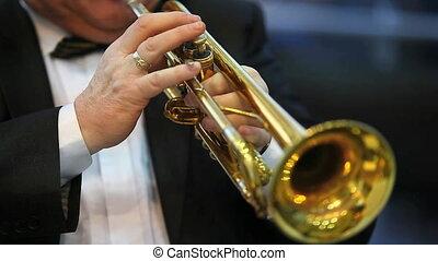 trumpeter - musician plaing music