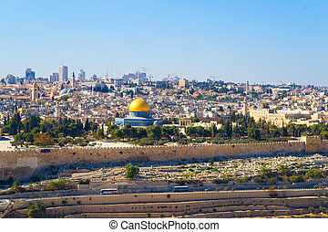 dome of the Rock in Jerusalem - Dome of the Rock, view to...