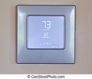 Modern electronic thermostat - Electronic thermostat with...