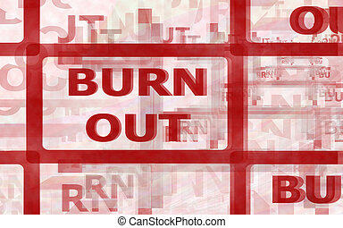 BURN OUT - Ilustration of a Burnout syndrome. Burnout is a...