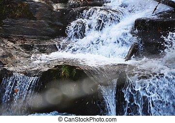 choppy water, river Bistrica, Muta, Slovenia
