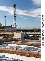 Water treatment industrial plant - Group from the big...