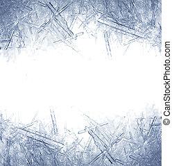 Primer plano, hielo, Cristales
