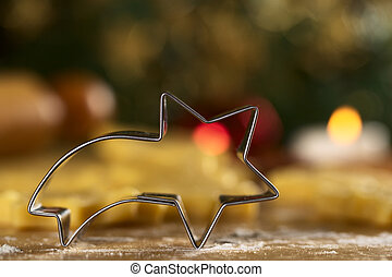 Shooting star shaped cookie cutter