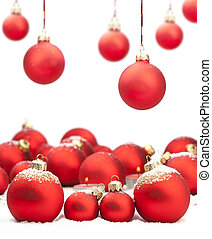 Christmas baubles with space for text - Red Christmas...