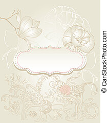 Background with flowers vintage sty