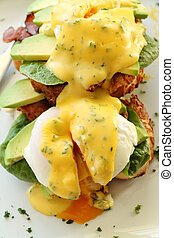 Bacon Eggs Benedict - Delicious eggs benedict with...