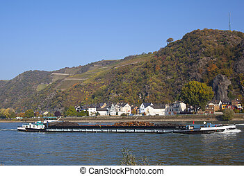 boats on the rhine