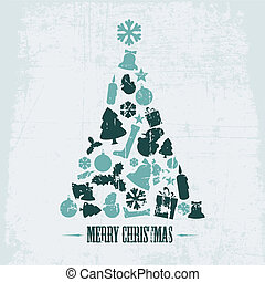 Vintage Vector christmas tree