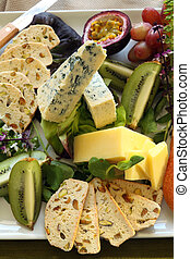 Fruit And Cheese Platter - Delicious fruit and cheese...