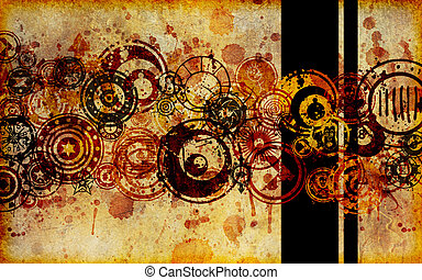 Abstract Faux Paper Grunge Background