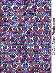 Colorful abstract freehand pattern - Freehand drawing....