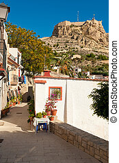 Alicante old town - Charming old district of Alicante, Costa...