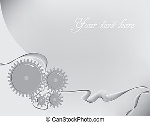 Engineer - Creative background with gears on the subject of...