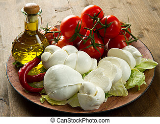 mozzarella - a fresh italian mozzarella  with tomato