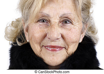 Portrait of a senior woman - Portrait of friendly...