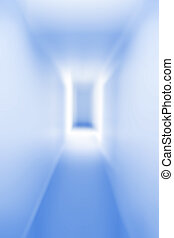 Tunnel into the unknown, blue tone