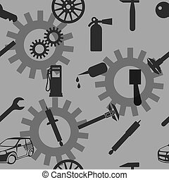 Auto Car Repair Service Icon Symbol Seamless wallpaper