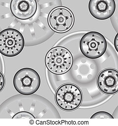 automotive wheel with alloy wheels Seamless wallpaper