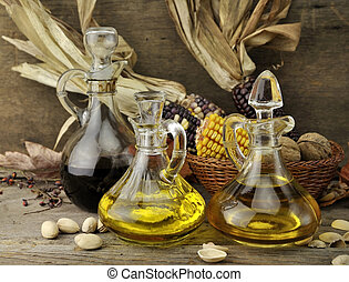 Cooking Oil And Vinegar - Cooking Oil , Vinegar And Autumn...
