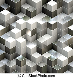 Abstract seamless cube background