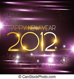 new year - vector new year golen style background