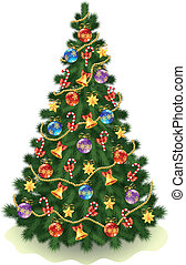 Christmas tree - Illustration of the u0421hristmas tree on...