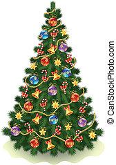 Christmas tree - Illustration of the %u0421hristmas tree on...
