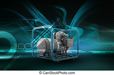 Generator - Digital illustration of a generator in colour...