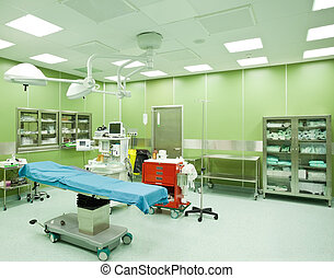 Operating room hospital nobody - Empty operating room in...