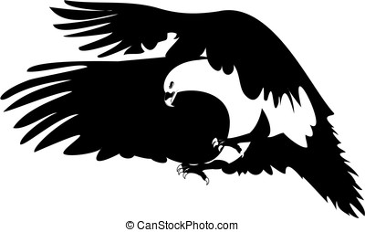 Eagle Flying Wings - Graphic Image of a Flying Eagle
