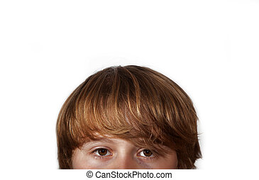 cute young boy - head of cute young boy