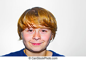 cute young boy - portrait of a cute young boy