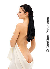 Back of the beautiful naked woman.