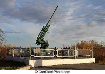Green anti-aircraft