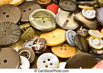 Clothing buttons collection