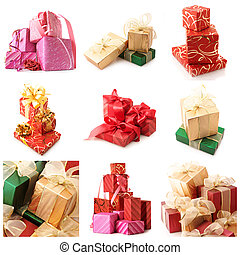 Set of various gifts
