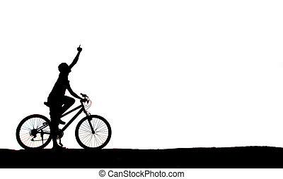 mountain biker man silhouette