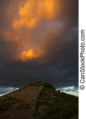 Approaching Storm - Approaching storm over hermitage hill