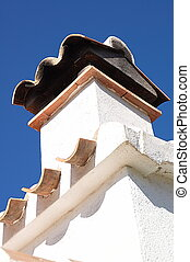 Mediterannean Chimney - Chimney against blue sky
