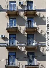 Balconies anmd windows - Balconies and windows on the wall...
