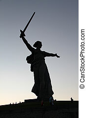 Monument Motherland - Memorial Motherland with sword and...