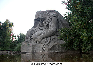 Monument in Volgograd - Memorial Mother with son on the...