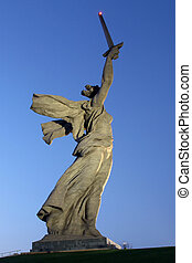 Monument Motherland - Memorial Motherland with sword on the...