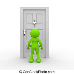 Knocker on door