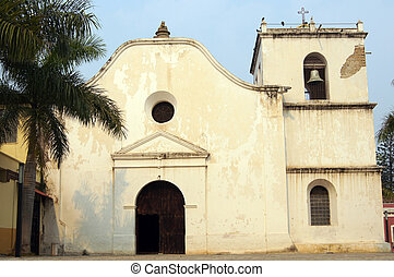 Church - Facade of San Fransisco church in Comayagua,...