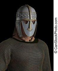 Saxon Warrior Chieftain Portrait - Portrait of a Saxon...