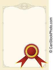 diploma stamp - vector red diploma stamp with decorative...